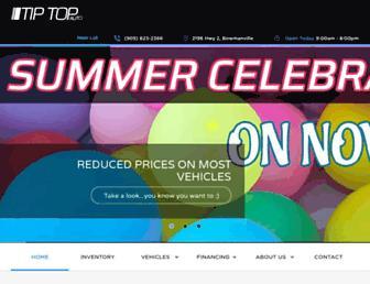 tiptopauto.ca screenshot