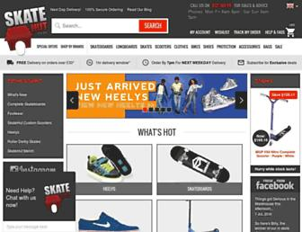 skatehut.co.uk screenshot