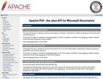 poi.apache.org screenshot