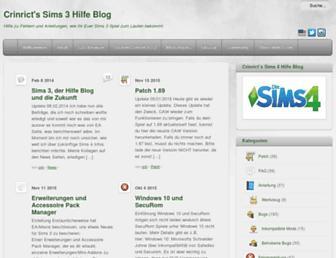 sims3.crinrict.com screenshot