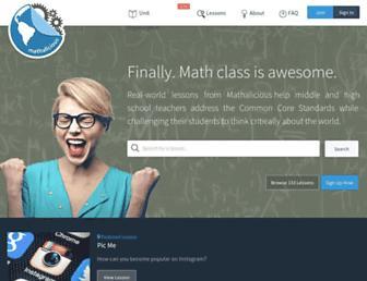 mathalicious.com screenshot
