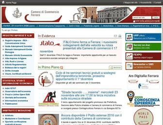 Main page screenshot of fe.camcom.it