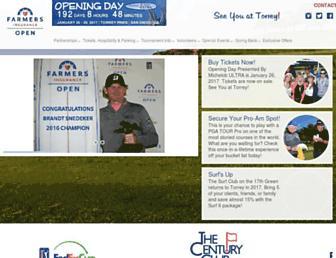 farmersinsuranceopen.com screenshot