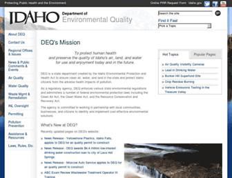 deq.idaho.gov screenshot