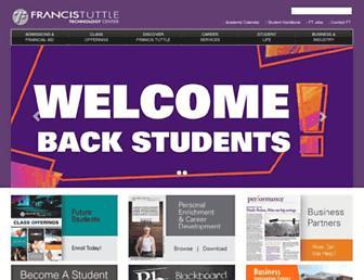 Main page screenshot of francistuttle.edu