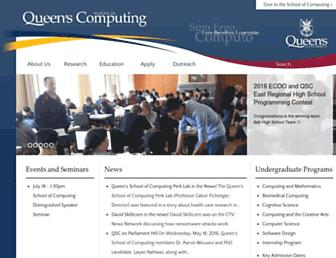 research.cs.queensu.ca screenshot