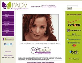 Main page screenshot of padv.org