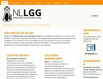 Main page screenshot of nllgg.nl