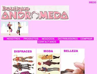 boutiqueandromeda.net screenshot
