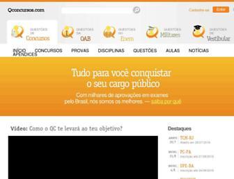 qconcursos.com screenshot