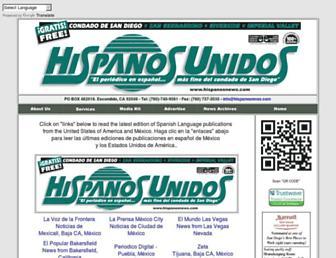 hispanosnews.com screenshot