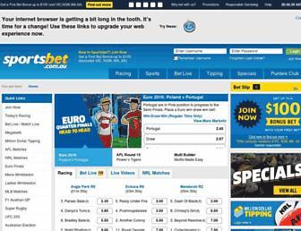 sportsbet.com.au screenshot
