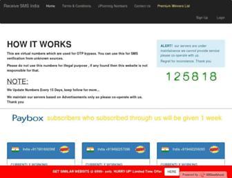 receivesmsindia.000webhostapp.com screenshot