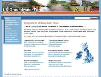 Main page screenshot of groundwateruk.org