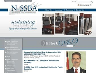Main page screenshot of nssba.org
