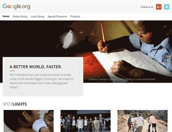 Main page screenshot of google.org