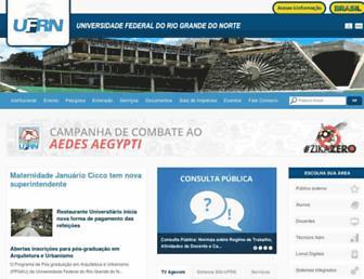 Main page screenshot of ufrn.br