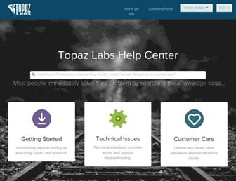 support.topazlabs.com screenshot