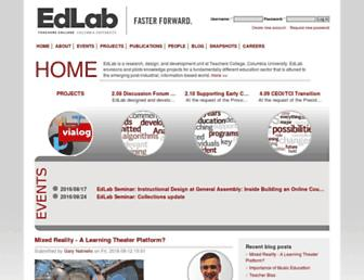 Main page screenshot of edlab.tc.columbia.edu