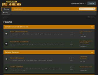 forums.playbattlegrounds.com screenshot