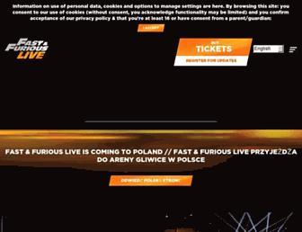 fastandfuriouslive.com screenshot