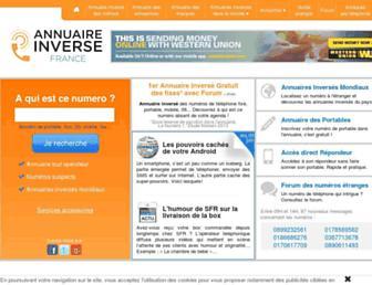 annuaire-inverse-france.com screenshot