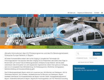 Main page screenshot of een-bayern.de