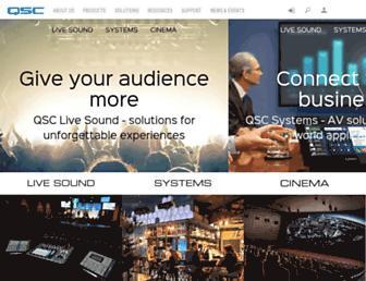 qsc.com screenshot