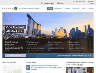 exante.eu screenshot
