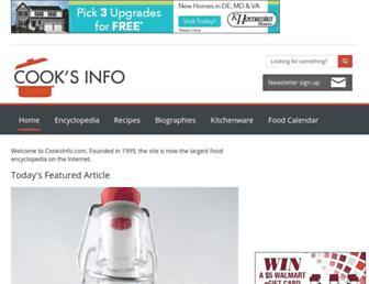 cooksinfo.com screenshot