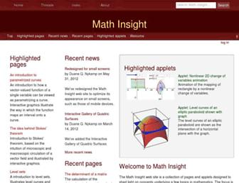 mathinsight.org screenshot