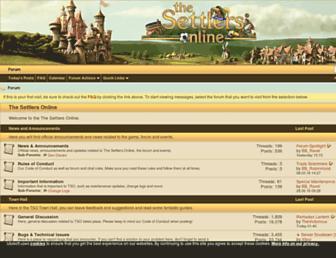 forum.thesettlersonline.com screenshot
