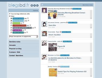 Main page screenshot of blogsbd.fr