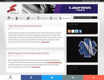 Main page screenshot of videogames.techfresh.net
