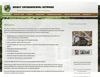 Main page screenshot of qenet.org