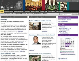 parliament.vic.gov.au screenshot