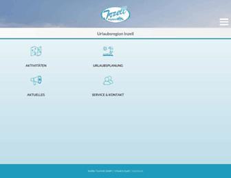 Main page screenshot of inzell.de