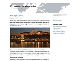 Main page screenshot of dtf-travel.no
