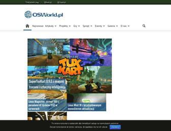 Main page screenshot of osworld.pl