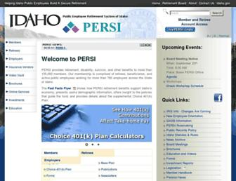 persi.idaho.gov screenshot