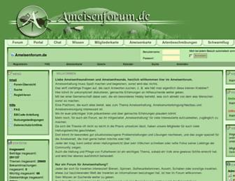 Main page screenshot of ameisenforum.de
