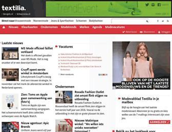 Main page screenshot of textilia.nl