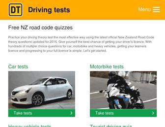 drivingtests.co.nz screenshot