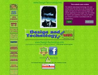 Main page screenshot of design-technology.info