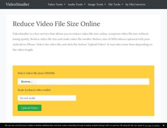 videosmaller.com screenshot