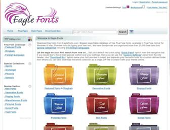eaglefonts.com screenshot