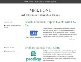 mrsbond.info screenshot