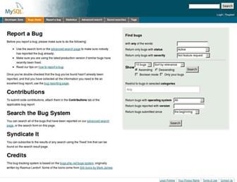 bugs.mysql.com screenshot