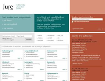 Main page screenshot of jure.nl