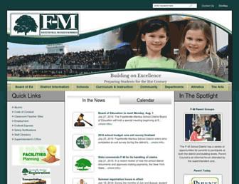 Main page screenshot of fmschools.org